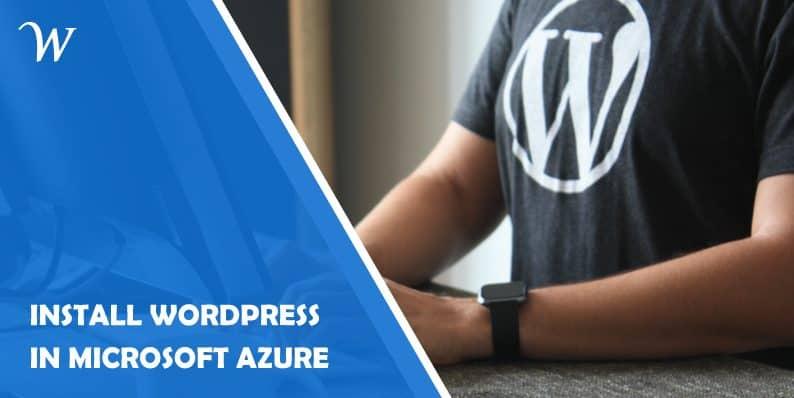 Install WordPress in Azure