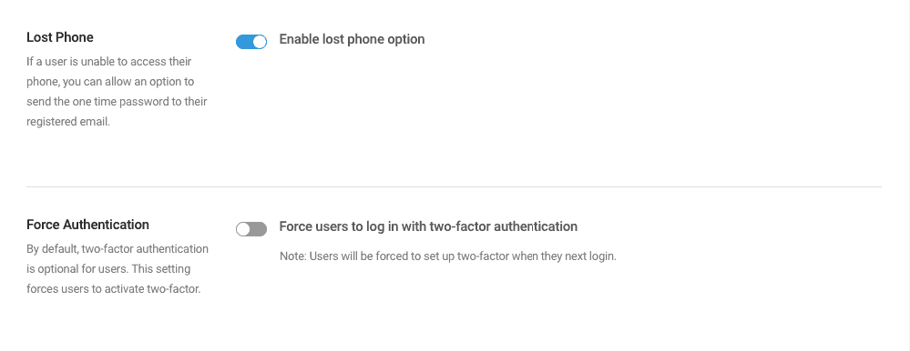 Force authentication