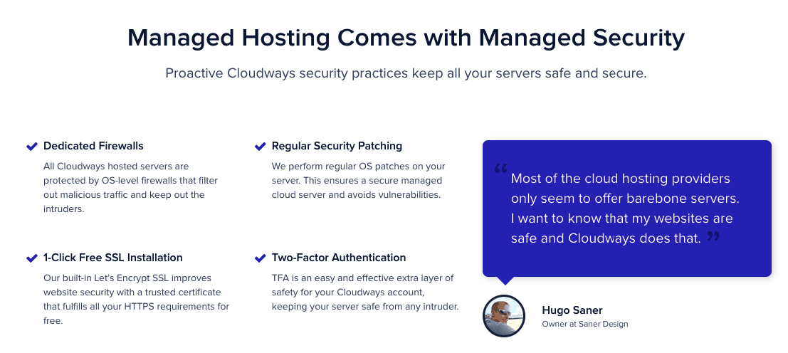 Security Cloudways