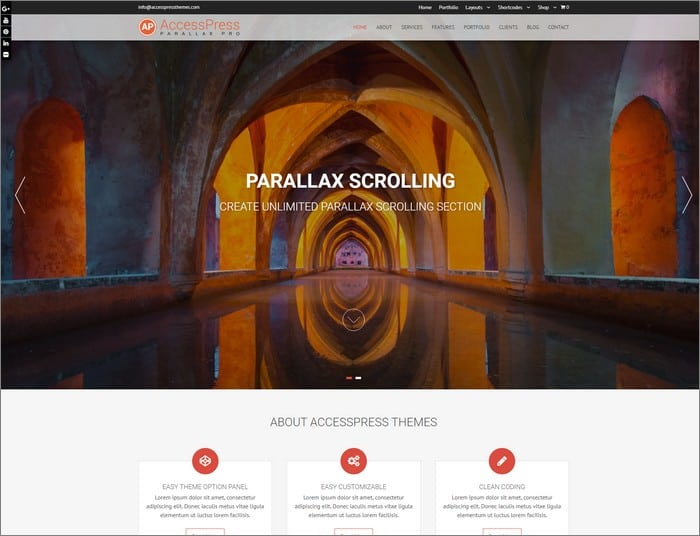 AccessPress Parallax Pro is the top selling theme from AccessPress Themes.
