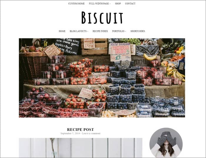 Biscuit is the best selling theme from PanKogut.