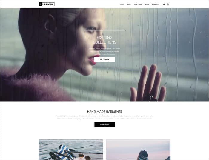 Blanche is a clean and professional WordPress theme from Viva Themes.