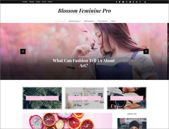 Blossom Feminine Pro is best selling WordPress theme of Blossom Themes