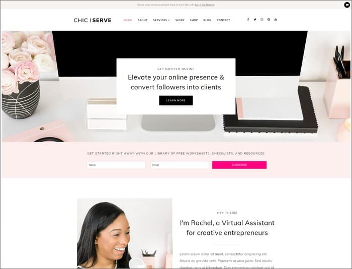 Meet ChicServe, the best selling WordPress theme 2019 from Bluchic.