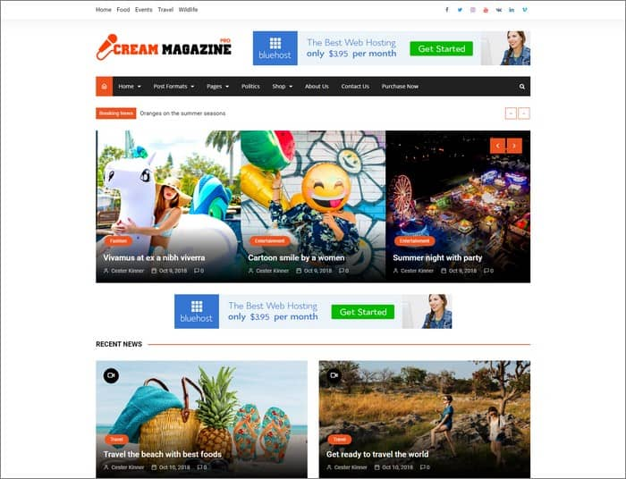 Cream Magazine Pro is Themebeez best selling theme in 2019.