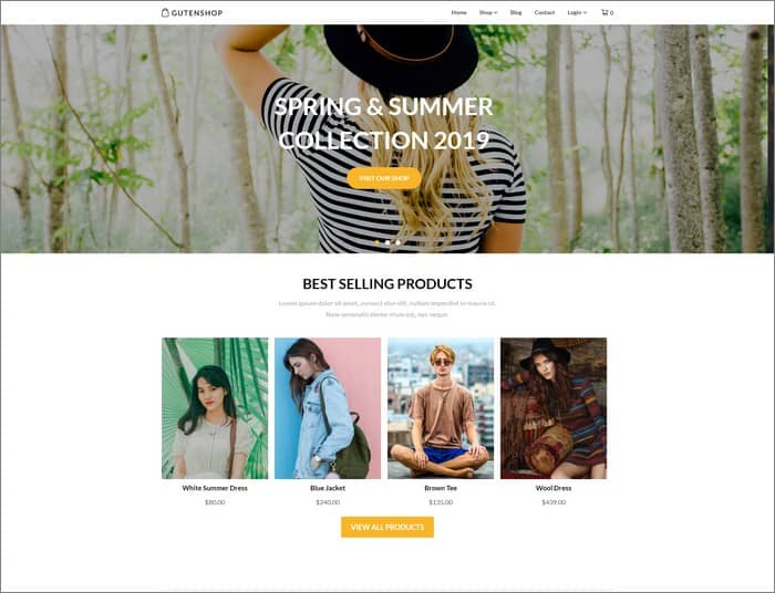 SuperbThemes best selling theme of 2019 is Gutenshop.