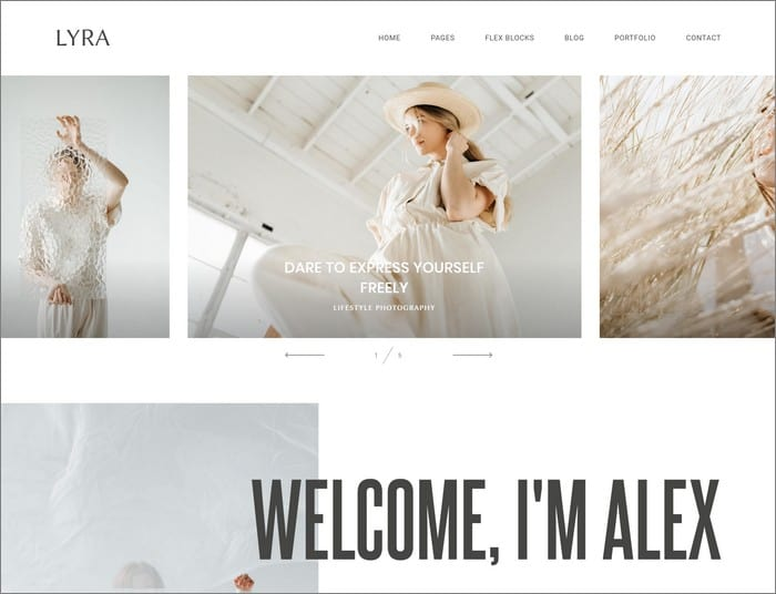 Lyra is Flothemes most popular website design for 2019.