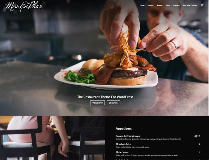 Mise En Place WordPress theme is a popular theme from Organized Themes.