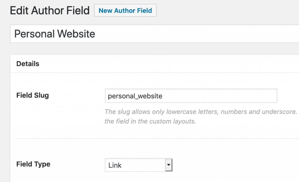 Choose Field Type