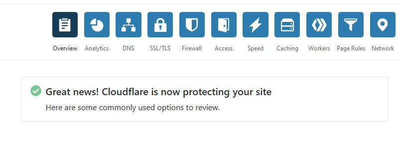 Cloudflare setup completed successfully