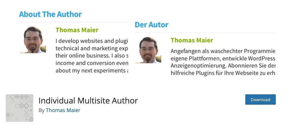 Individual Multisite Author