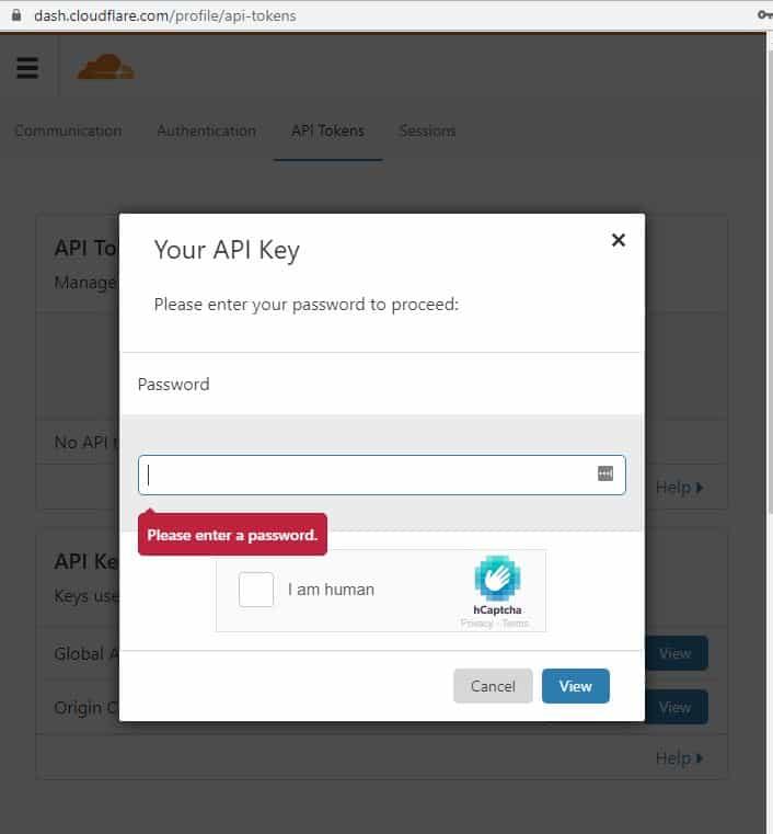 Your API Key Password