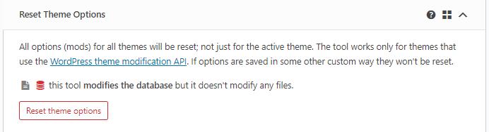 Select Theme Reset