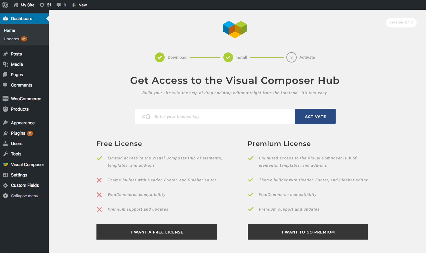 Visual Composer Hub