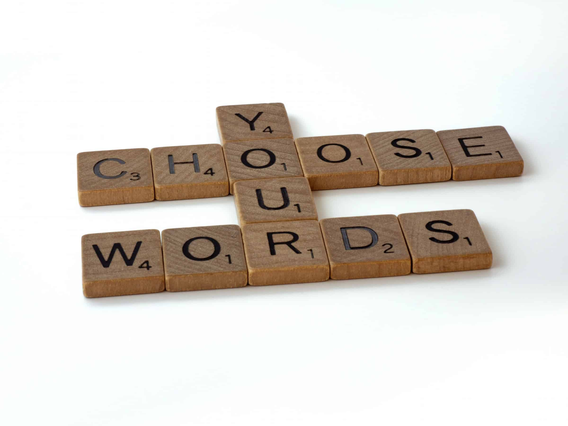 Choose your words in scrabble