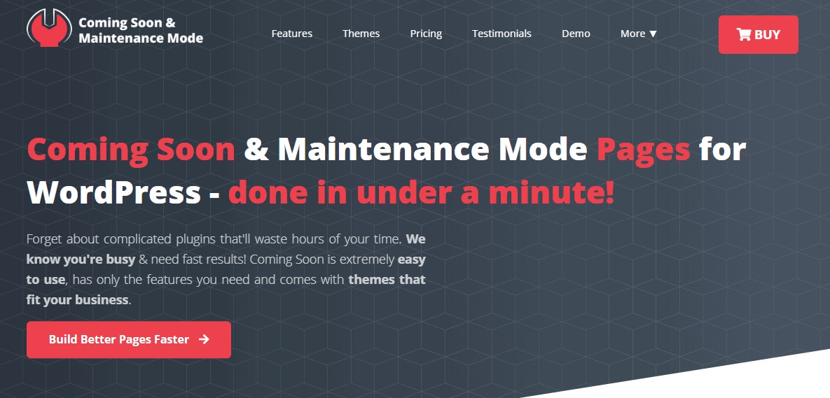 Coming Soon & Maintenance Mode