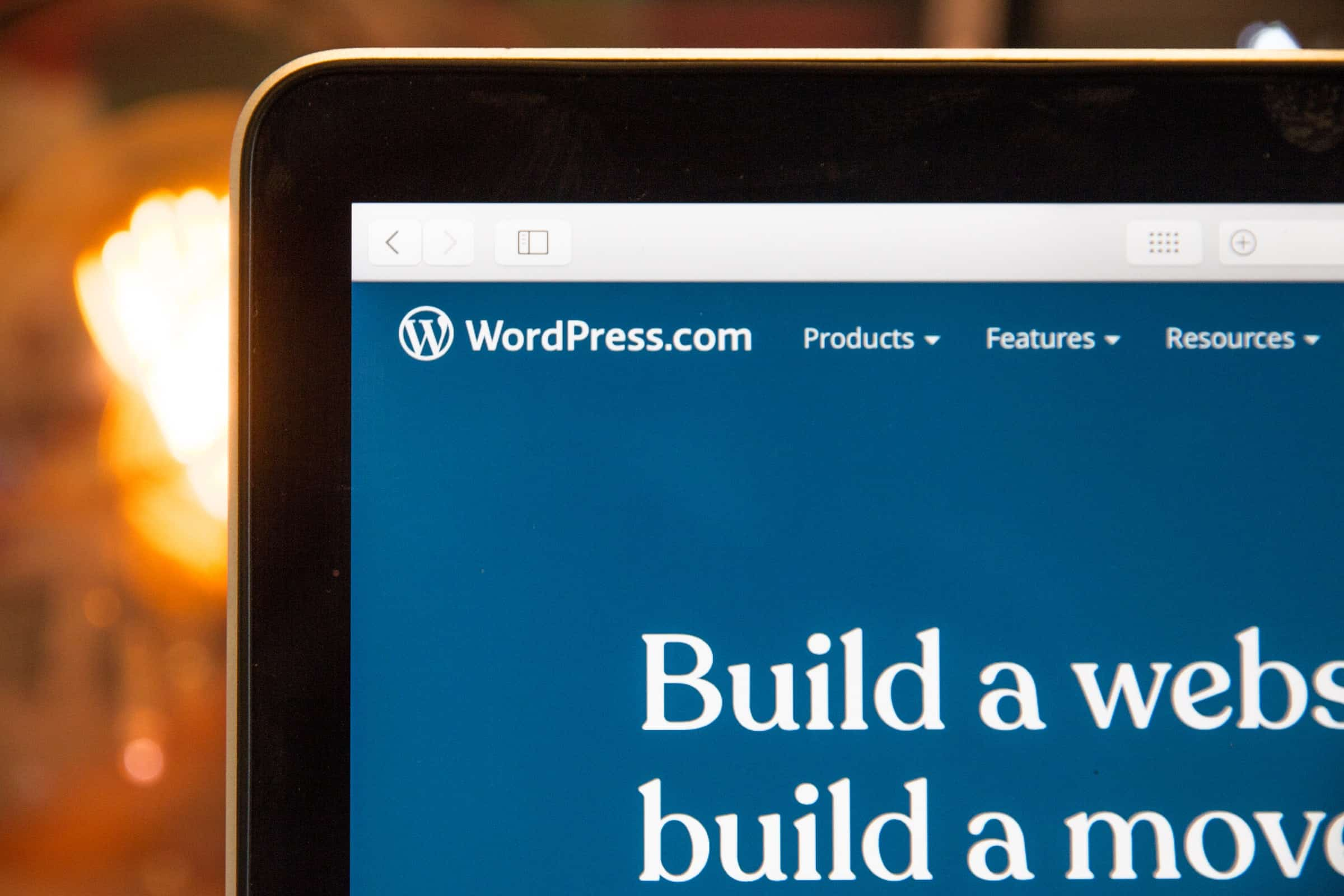 WordPress landing page