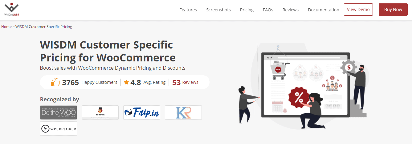 Customer specific pricing plugin
