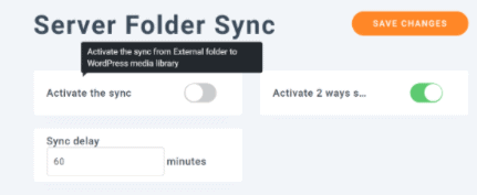 Server folder sync