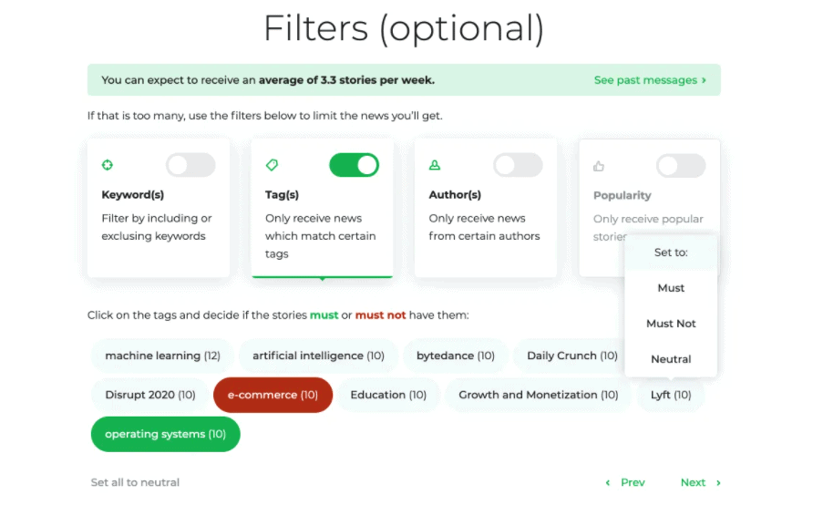 Follow.it filters