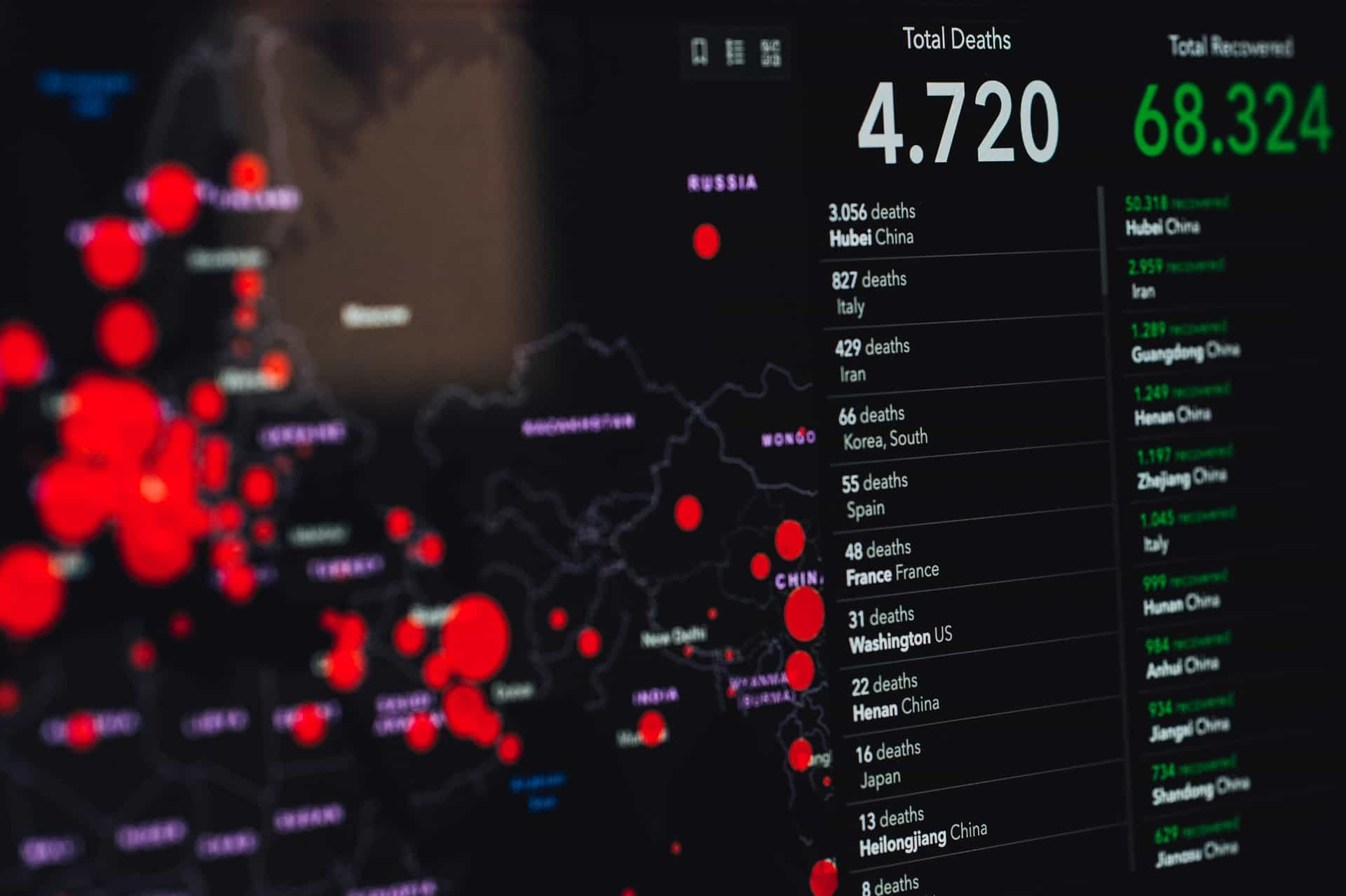 Covid outbreak map