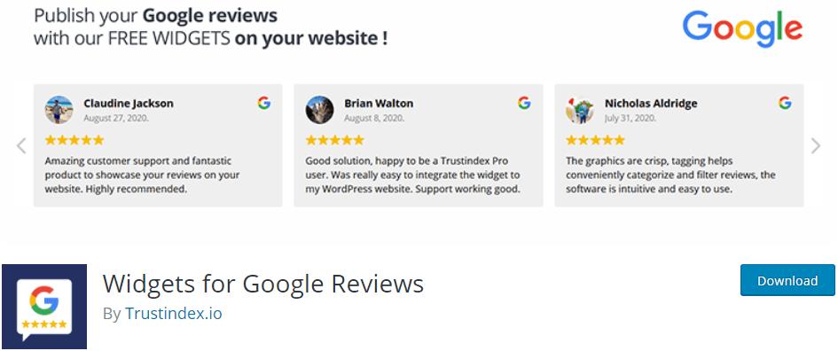 Widgets for Google Reviews Plugin