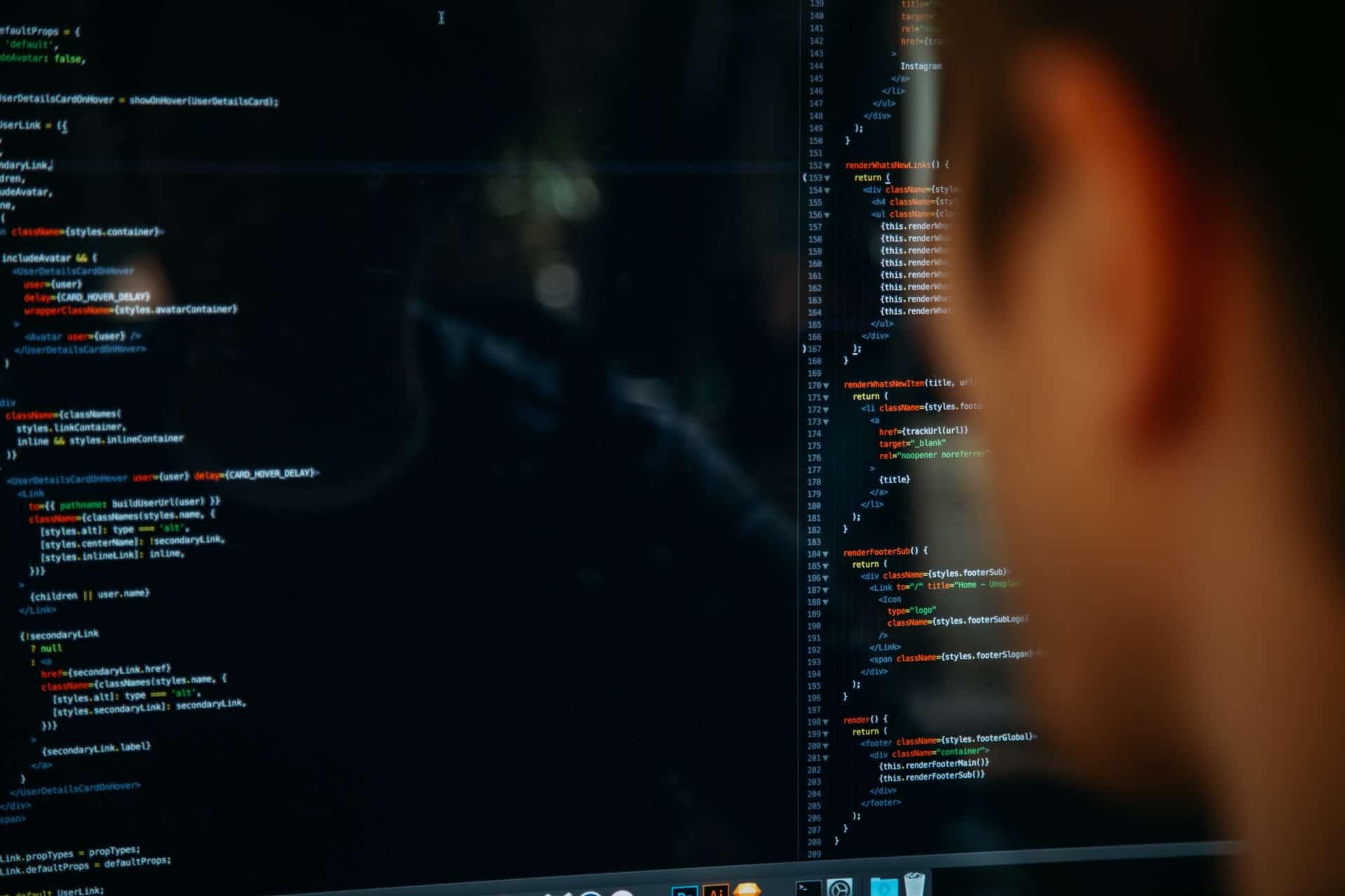 Man coding