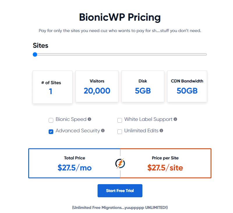 BionicWP pricing