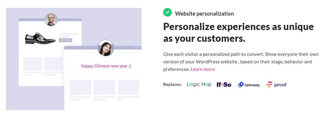 Growmatik website personalization