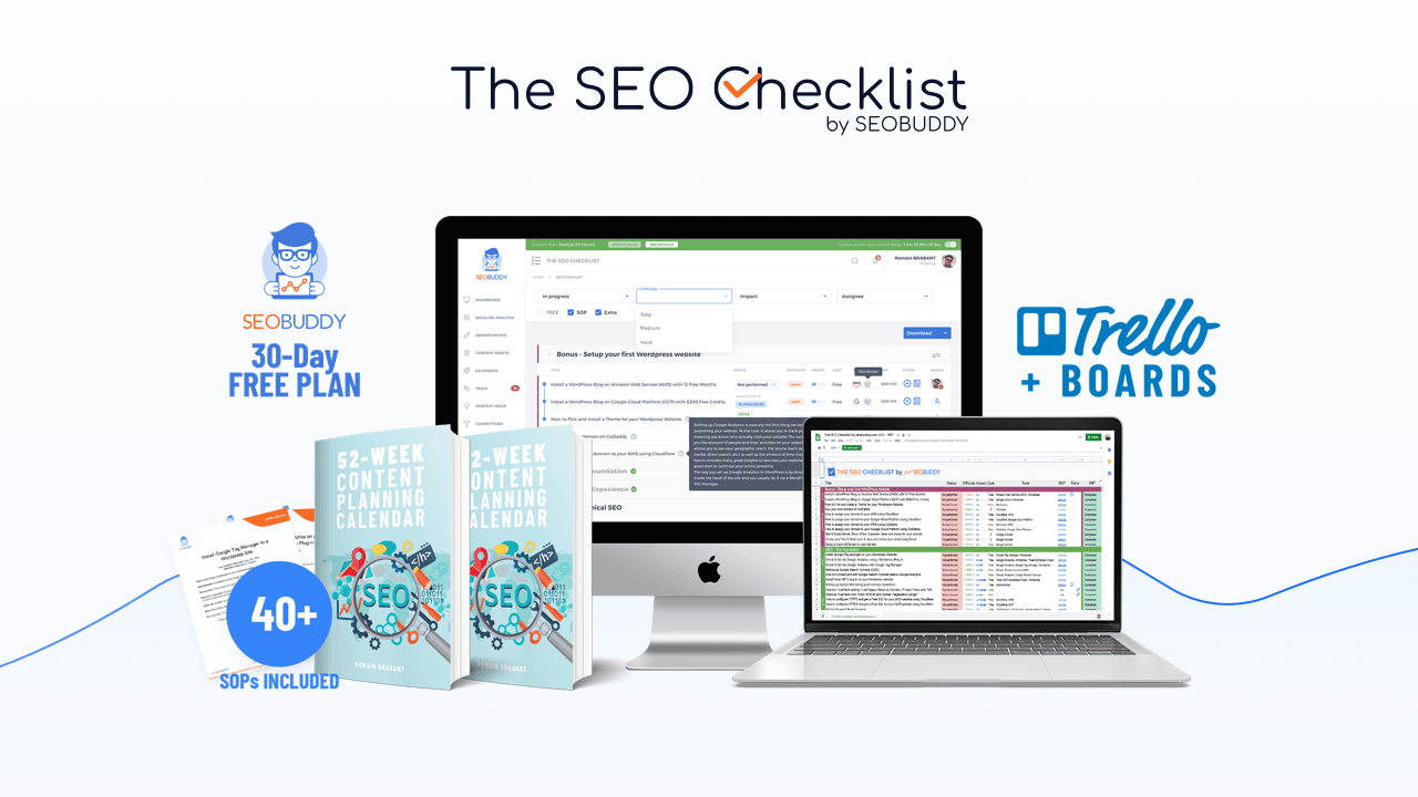 The SEO Checklist by SEOBUDDY promo banner
