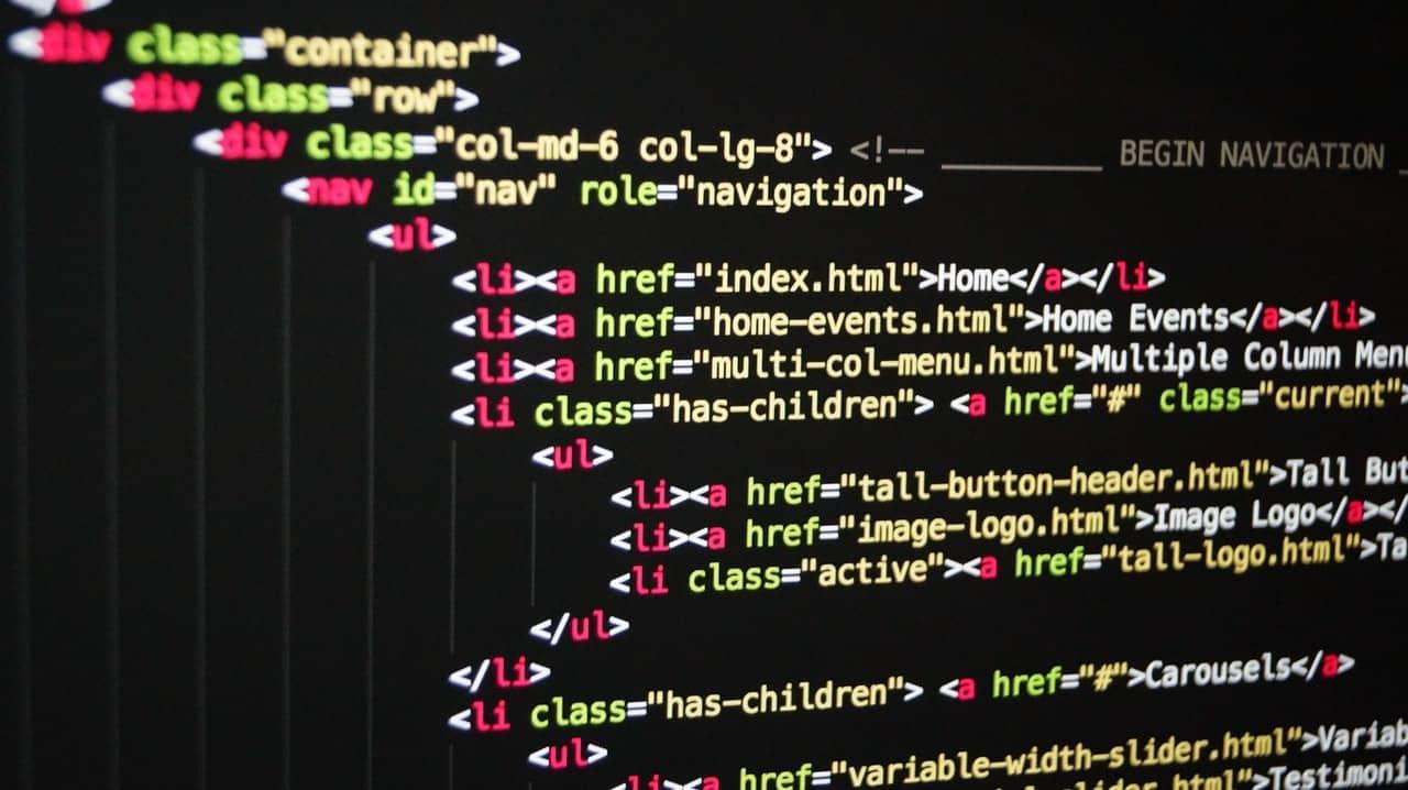 Piece of CSS code up close