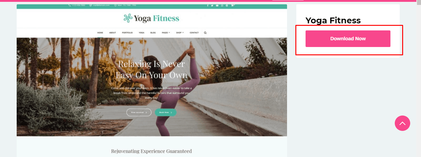 Yoga Fitness theme download