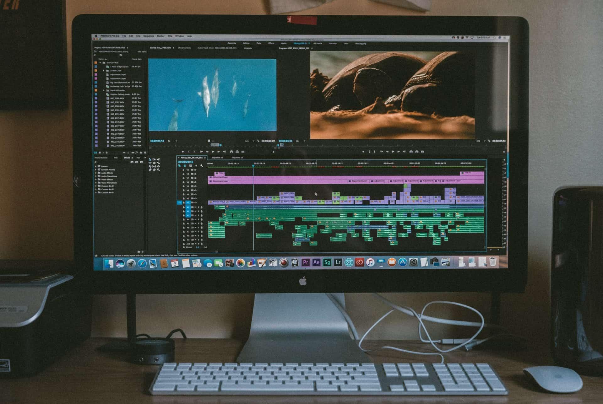 Video editor open on Mac PC