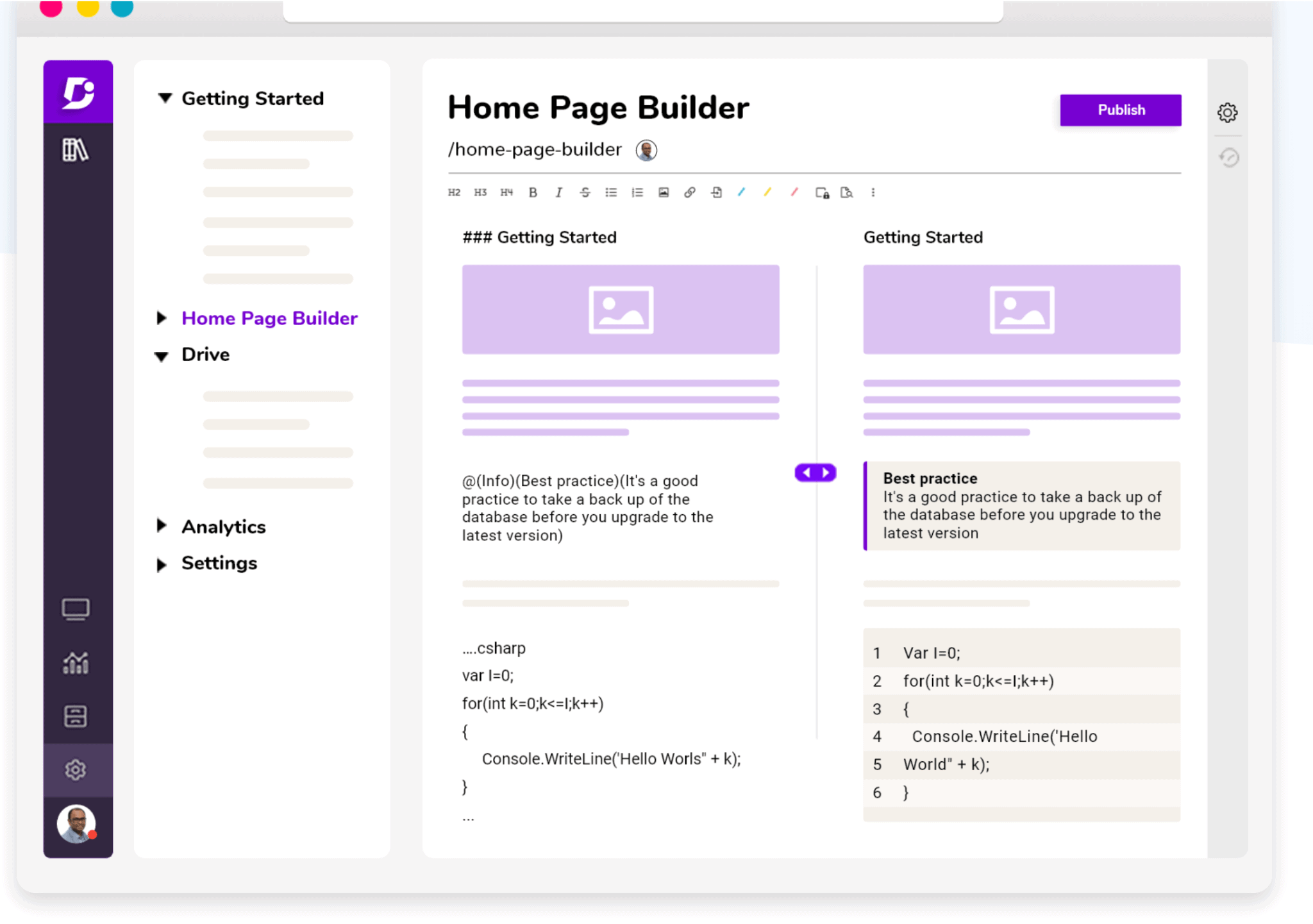 Knowledge Base Home Page Builder