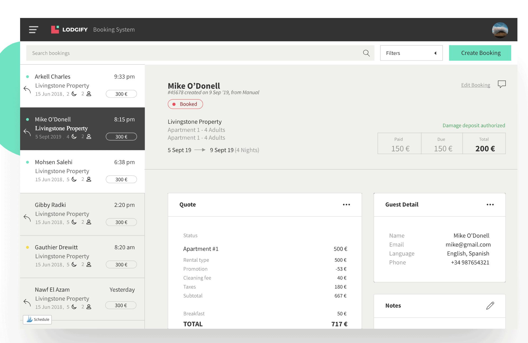 Lodgify booking system