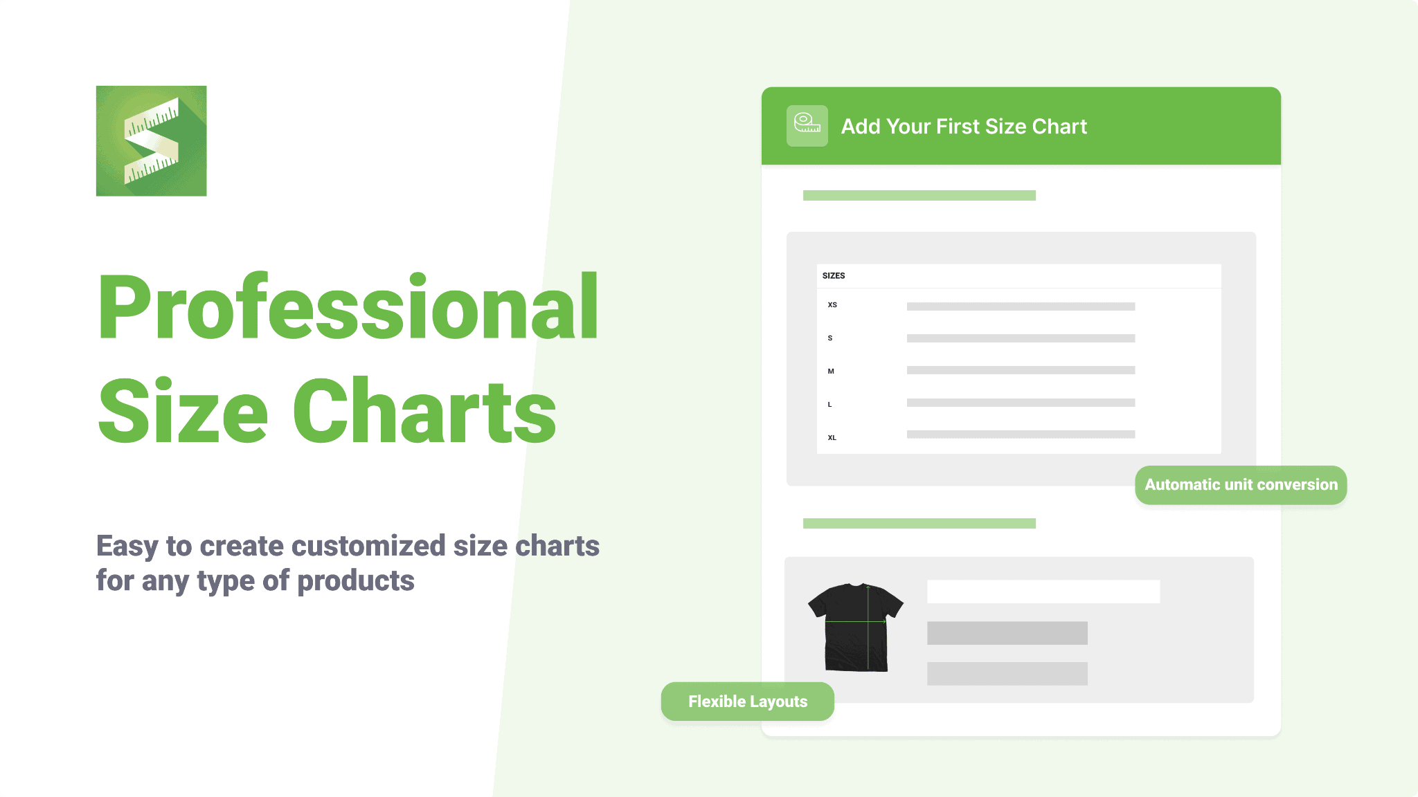 Creating size chart