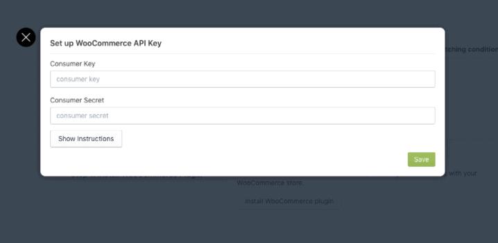 Set up API key option
