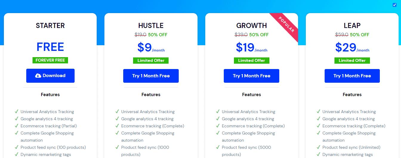 Conversios pricing